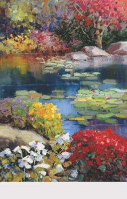 Quality fine art prints for Garden pond kent